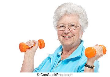 club, femme aînée, santé, séduisant