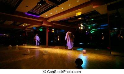 club, filles, deux, danse