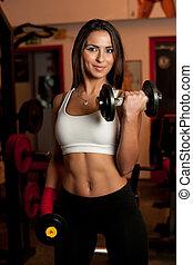 club, girl, fitness