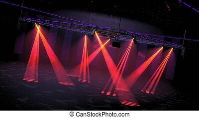club, lightshow, boucle, disco