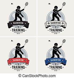 club, logo, badminton, design.