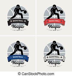 club, logo, basket-ball, design.