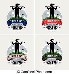 club, logo, golf, design.