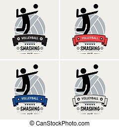 club, logo, volley-ball, design.