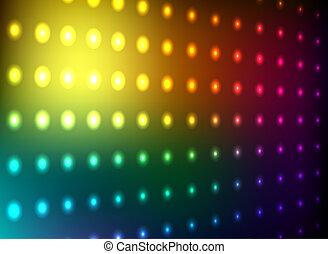 club, lumière, mur