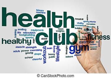 club, santé, mot, nuage