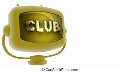 club, tv, accouplé, boucle, alpha