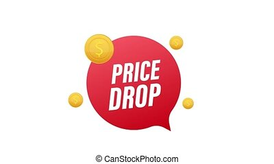 coût, bannière, gabarit, graphics., goutte, vente, mouvement, offer., design., spécial