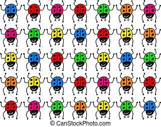 coccinelles, coloré