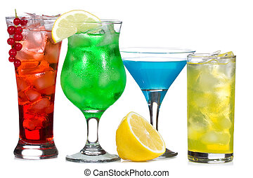 cocktails, baies, alcool, fruits