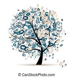 code, arbre, programme, coloré, logo, numérique