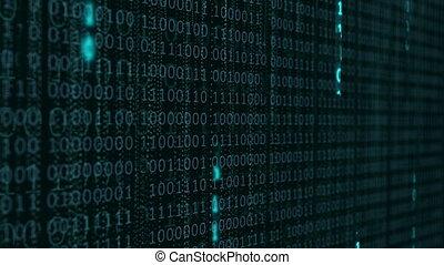 code binaire, informatique, arrière-plan.