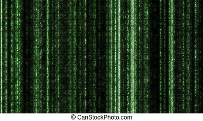 code binaire, vert