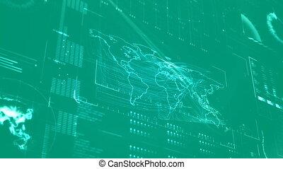 code, mondiale, numérique, plan vert
