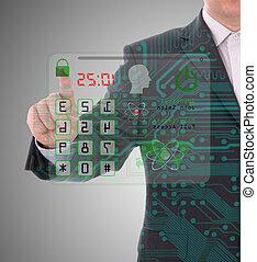 code, sécurité, concept, protection