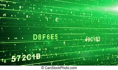 code, vert, animation, numérique