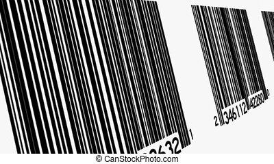 codes, angle, boucle, fond, barre