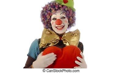 coeur, a, clown, grand