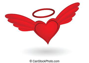 coeur, ailes, halo