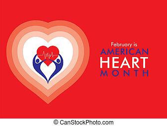 coeur, américain, février, mois