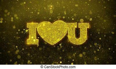 coeur, amour, carte, invitation, voeux, salutations, vous, feud'artifice, célébration