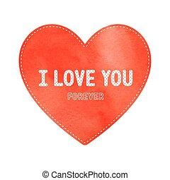 coeur, amour, carte, rouges