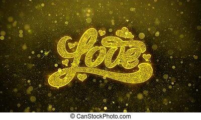 coeur, amour, carte, valentines, invitation, voeux, salutations, feud'artifice, jour, célébration
