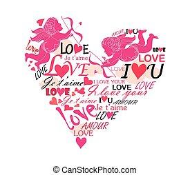 coeur, amour, cupidon