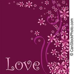 coeur, amour, illustration, vecteur
