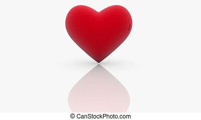 coeur, amour, rouges, mot, blanc