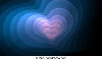 coeur, bleu, day.1080p, valentin, fractal, bon, rose