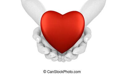 coeur, boucle, mains