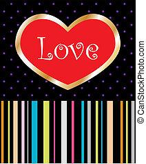 coeur, bouton, amour