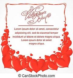 coeur, cadre, saint-valentin, toile de fond
