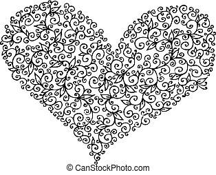 coeur, ccxix, romantique, vignette