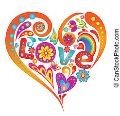 coeur, coloré