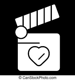 coeur, concept, amour, battant, symbole., planche, design.