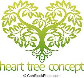 coeur, concept, arbre