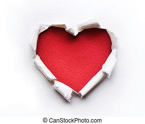 coeur, conception, carte, valentin