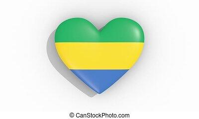 coeur, couleurs, drapeau, gabon, impulsions, boucle