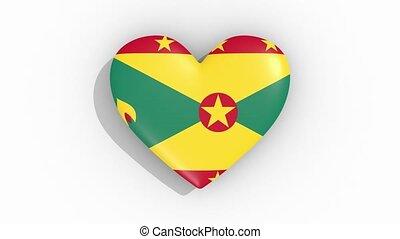 coeur, couleurs, drapeau, grenade, impulsions, boucle