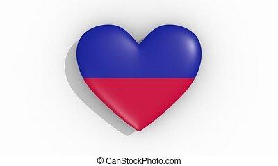 coeur, couleurs, drapeau, haïti, impulsions, boucle