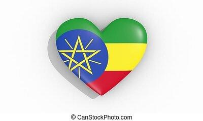 coeur, couleurs, ethiopia signalent, impulsions, boucle