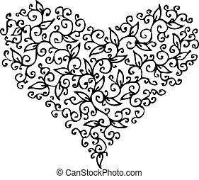 coeur, cxxxiii, romantique, vignette