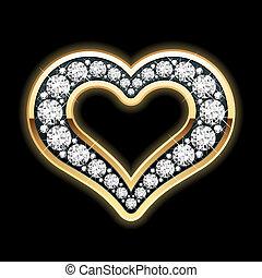 coeur, diamants