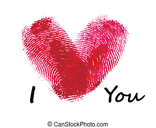 coeur, empreintes digitales