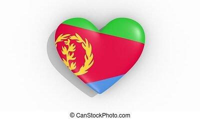 coeur, eritrea, couleurs, drapeau, impulsions, boucle