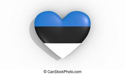 coeur, estonie, couleurs, drapeau, impulsions, boucle