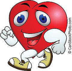 coeur, exercice, carton