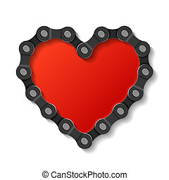 coeur, fait, chaîne